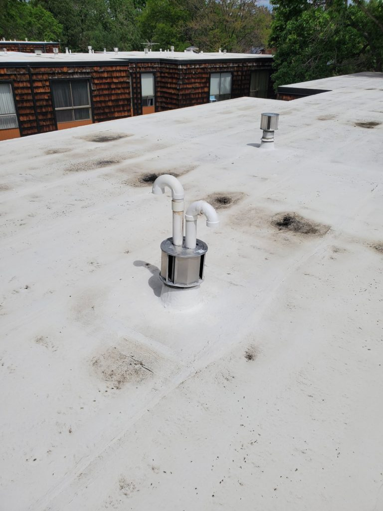 Flat Commercial Roof Water Ponding
