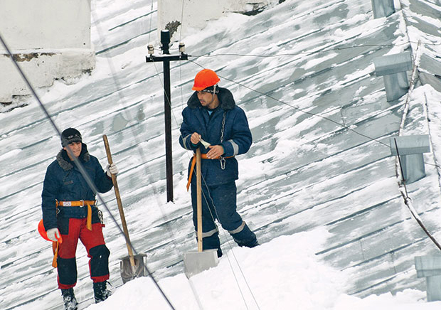 winter roofing safety